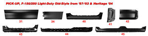 1997-2003 Ford F150 Rust Repair & Other Panels Available