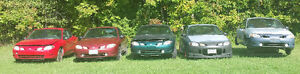 Five 1998-1999 Ford Escort ZX2 Coupes + many parts (2 door)