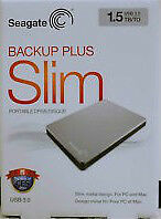 SEAGATE Backup Plus Slim 1.5 TB USB 3.0 Portable External HD
