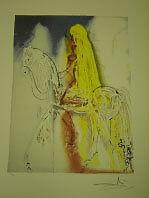 "Salvador Dali  Lithograph ""Lady Godiva"" Plate-Signed"