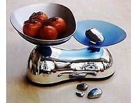 Designer Equilibrium Silver Pebble kitchen scales weights lovely show piece