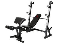 Marcy Diamond Elite bench + bar and 140 kg of weight