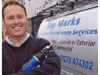 TOP MARKS PROPERTY MAINTENANCE SERVICES - BRISTOL PAINTER AND DECORATOR. HANDYMAN