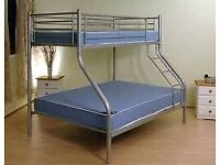 Trio metal bunk bed for kids and adults Frame for With 2 mattresses Cash on delivery