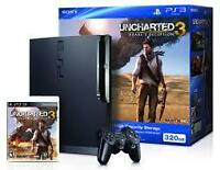 Playstation 3 uncharted 3 bundle 320gb