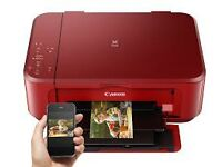 RED CANON PIXMA MG3650 Wi-Fi PRINTER/SCANNER/PHOTOCOPIER ONLY £25