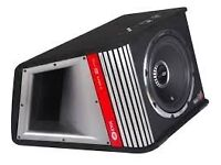 """vibe active 12"""" subwoofer new in box high power built in amp 1600w"""