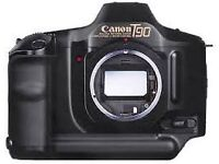 Canon T90 35mm film camera body. Including spot metering and 5 frames per second motordrive - £45