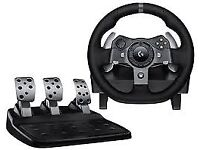Logitech G920 Wheel and peddles