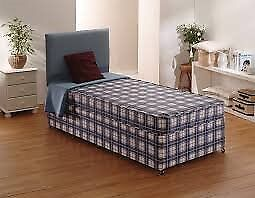 Brand New Comfy Single Padded Spring Divan Bed set FREE delivery 2 Available