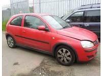 BREAKING Vauxhall corsa c red 1.2 petrol