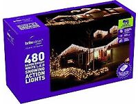 Snowing Icicle 480 LED Lights - White