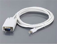MINI DISPLAY PORT to VGA cables - 6ft.- (NEW, SEALED)
