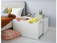 Storage Chest Bench White IKEA Stuva