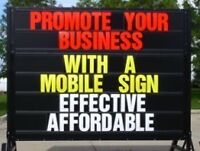 Mobile sign rental from SignAd