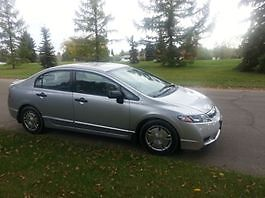 Low mileage, 2009 Honda Civic DX (with winter tires)