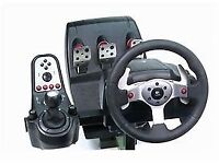 Logitech G25 Racing Wheel H shifter and pedals