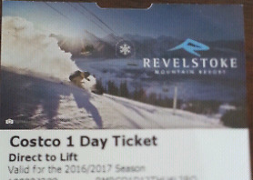 Revelstoke One Day Ski Lift Ticket
