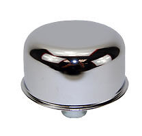 Chrome-Push-In-Breather-chrome-steel-3-4-inch-neck-filter-valve-cover-pcv-chevy