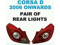Vauxhall corsa D back lights
