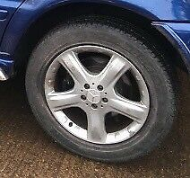 19 inch Mercedes alloy wheels & nearly new tyres