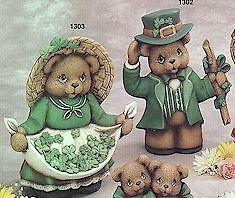 Ceramic Bisque  Ready to Paint Irish Bear Couple