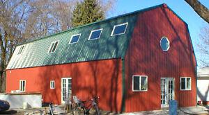 Steel metal gambrel home building kit 2 floor 3600 sq ft for Steel metal home gambrel building kit 3500 sq ft