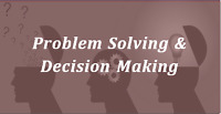 """""""Problem Solving & Decision Making"""" Course Sign Up"""