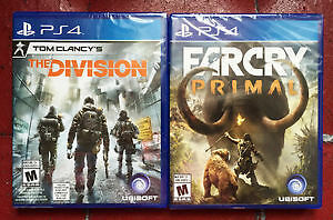 The Division (Tom Clancy) and Far cry Primal Sealed