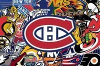 4 billets rouge ensemble *tres rare* Canadiens Plusieurs match.
