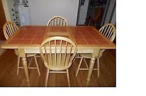 Table en bois/céramique