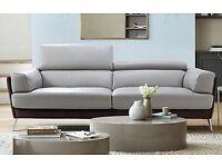 Stunning DFS DESIGNER Elvarado Leather 3 seater sofa