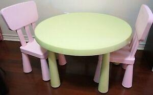 ikea MAMMUT Children's table&2chair