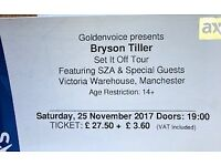 2x Bryson Tiller set it off tour tickets Manchester Victoria Warehouse Saturday 25th Nov 7pm