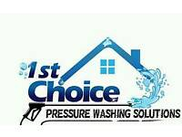 1ST CHOICE PRESSURE WASHING SOLUTIONS EDINBURGH & LOTHAINS •DRIVEWAYS •DECKS •CONSERVATORIES...