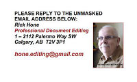 AFFORDABLE PROOFREADING AND EDITING SINCE 2010