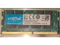 16GB Cruvial DDR4 2133mhz Sodimm laptop memory RAM