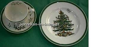 2 Kaffeegedecke Christmas Tree Spode Kaffeetassen + Dessertteller Neuware 2 Spode Christmas Tree