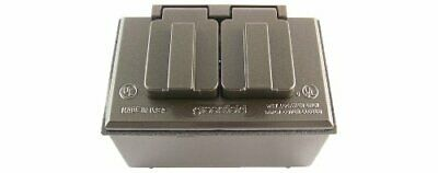 Made In Usa Weatherproof Electrical Outlet Box Box Cover Duplex Outlet Kit