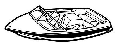 7oz BOAT COVER CORRECT CRAFT SKI NAUTIQUE 2001 I/O 1982-1989 Ski Nautique Boat Cover