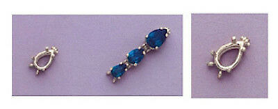 Pear Bracelet Link Setting - One Sterling Silver Pear Bracelet Link Setting (6x4-10x7mm)