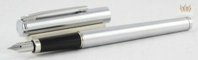 SHEAFFER FASHION 240 CHROME METAL WITH CHROME TRIM FOUNTAIN PEN AWESOME DESIGN !