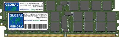 8GB (2x4GB) DDR2 400MHz PC2-3200 240-PIN ECC REGISTERED RDIMM SERVER RAM KIT ()