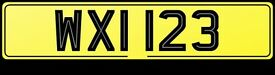 Cherished Registration / Number Plate / Numberplates -- WXI 123