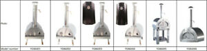 Wood fired stainless steel outdoor BBQ pizza oven and smoker