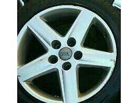 Audi 17inch alloy skoda volkswagen seat 5x112 spare wheel