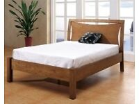 Beautiful oak double bed brand new matress can DELIVER