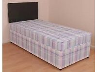 Brand New Comfy Single bed set with Headboard FREE delivery Range of colours