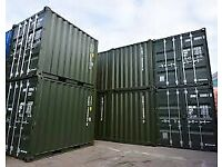 20ft Shipping Containers (One Trip) Dark Green for sale London Kent Surrey and Sussex
