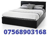 BED STILL WRAPPED DOUBLE LEATHER BED INC MATTRESS FREE BEDSIDE CABINET